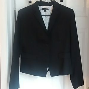 Ann Taylor classic two button black jacket